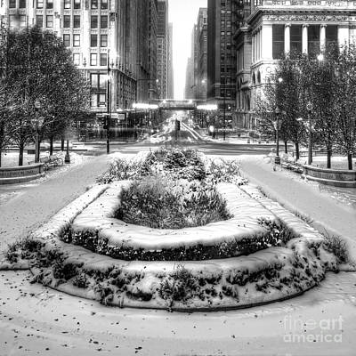 Chicago Loop Photograph - Downtown Chicago In Winter by Twenty Two North Photography
