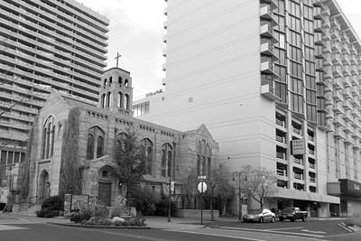 Photograph - Downtown Church  by Brent Dolliver