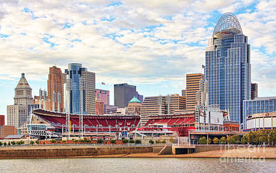 Downtown Cincinnati 9885 Art Print