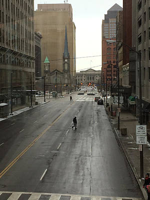 Photograph - Downtown Cleveland Looking North by Patricia Januszkiewicz