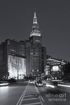 Photograph - Downtown Cleveland Morning Traffic II by Clarence Holmes