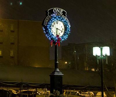 Parkersburg Wv Photograph - Downtown Clock by Jonny D