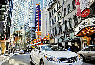 The Paramount Theatre Photograph - Downtown Crossing by Joanne Brown