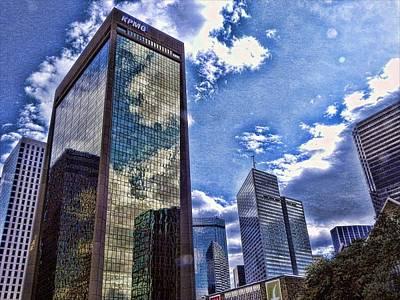 Downtown Dallas Art Print by Kathy Churchman