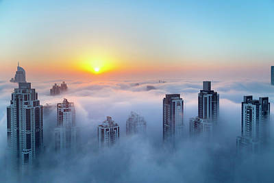 Photograph - Downtown Dubai At Dawn, United Arab by Henglein And Steets