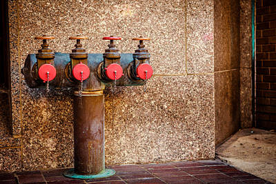 Photograph - Downtown Extinguisher  by Melinda Ledsome