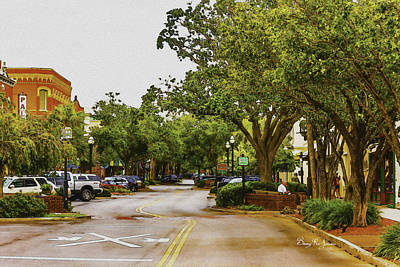 Downtown Fernandina Beach Print by Barry Jones