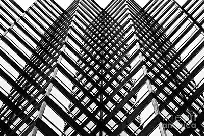 Bayou Abstract Photograph - Downtown High Rise by Scott Pellegrin