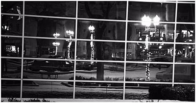 Downtown Holiday Reflections Art Print by Dan Sproul