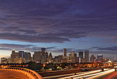 Downtown Houston After The Storm Art Print