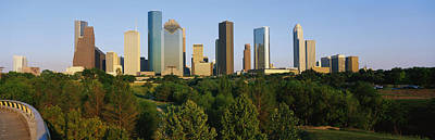 Downtown Houston Art Print by Panoramic Images