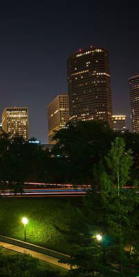 Photograph - Downtown Houston Right Triptych by Andy Crawford
