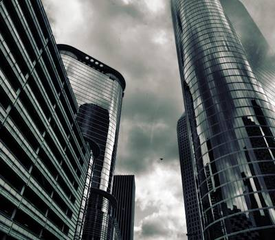 Photograph - Downtown Houston Skyscrapers In Storm by Dan Sproul