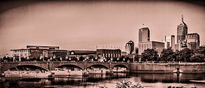 Photograph - Downtown Indianapolis by Ron Pate