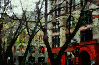 Citysape Painting - Downtown  by Janice MacLellan