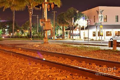Photograph - Downtown Jensen R R Tracks by Lynda Dawson-Youngclaus
