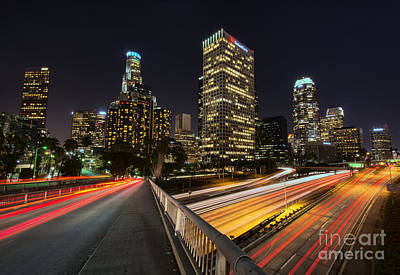 Photograph - Downtown L. A. by Eddie Yerkish