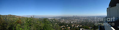 Downtown La From Griffith Observatory Print by Bedros Awak
