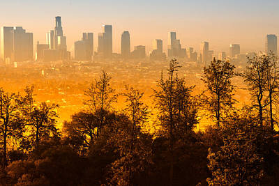 Photograph - Downtown Los Angeles As Seen From The Griffith Observatory by Celso Diniz