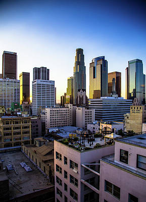 Photograph - Downtown Los Angeles Skyline by Hal Bergman Photography