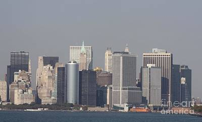 Photograph - Downtown Manhattan Shot From The Staten Island Ferry by John Telfer