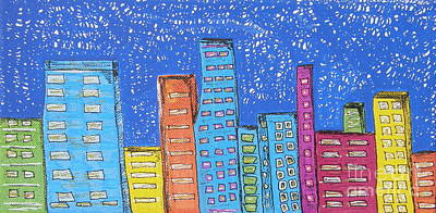 Painting - Downtown by Marcia Weller-Wenbert
