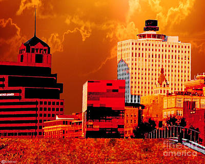 Digital Art - Downtown Memphis 2 by Lizi Beard-Ward