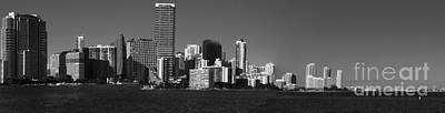 Miami Skyline Photograph - Downtown Miami Panorama Monochrom  by Christiane Schulze Art And Photography