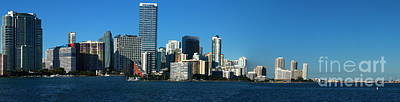Miami Skyline Photograph - Downtown Miami Panorama by Christiane Schulze Art And Photography