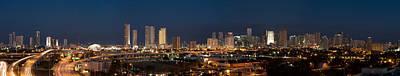Miami Skyline Photograph - Downtown Miami Skyline At  by Georgia Fowler