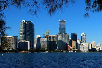 Miami Skyline Photograph - Downtown Miami Skyline by Christiane Schulze Art And Photography