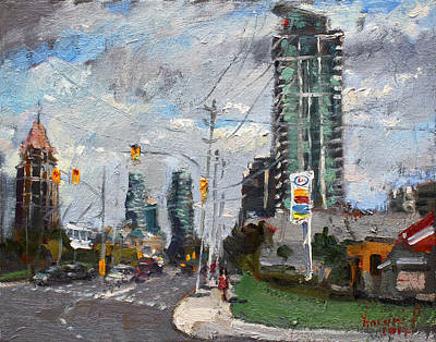 Downtown Wall Art - Painting - Downtown Mississauga On by Ylli Haruni