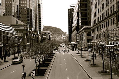Photograph - Downtown Montreal by Jocelyne Choquette