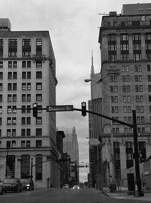 Broadway In Nashville Photograph - Downtown Nashville In Black And White by Dan Sproul