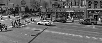 Crosswalk Photograph - Downtown Nashville Legends Corner by Dan Sproul