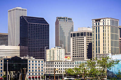 Louisiana Photograph - Downtown New Orleans Buildings by Paul Velgos