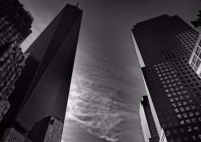 Rockefeller Plaza Photograph - Downtown New York City In Black And White by Dan Sproul