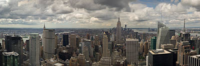 Photograph - Downtown New York Panorama by Gary Eason