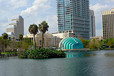 Photograph - Downtown Orlando by Denise Mazzocco