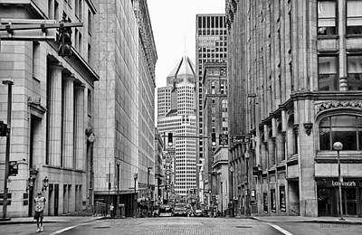 Photograph - Downtown Pa In B/w by Dyle   Warren