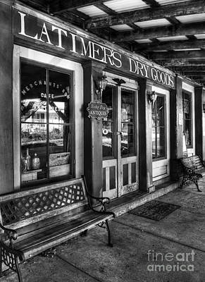 Photograph - Downtown Perryville 2 Bw by Mel Steinhauer