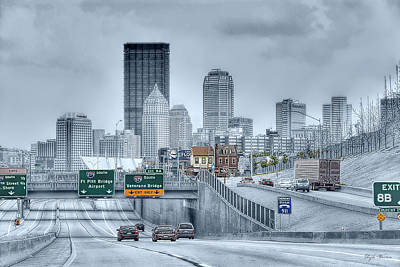 Photograph - Driving Towards Downtown Pittsburgh  by Dyle   Warren