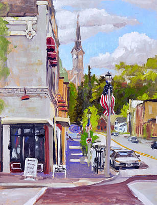 Painting - Downtown Port Washington by Anthony Sell