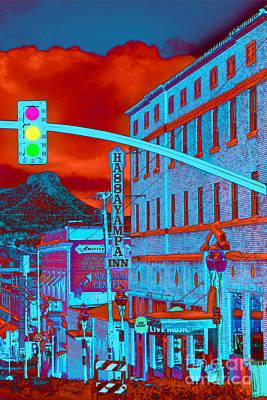 Prescott Digital Art - Downtown Prescott Arizona  by K D Graves