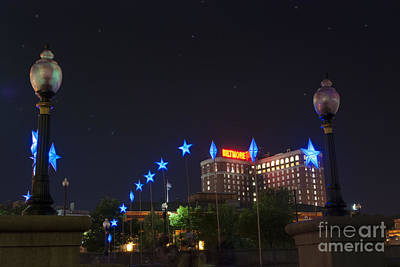 Riverwalk Photograph - Downtown Providence At Night by Juli Scalzi