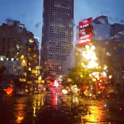 Downtown Photograph - Downtown Rain by Heidi Hermes