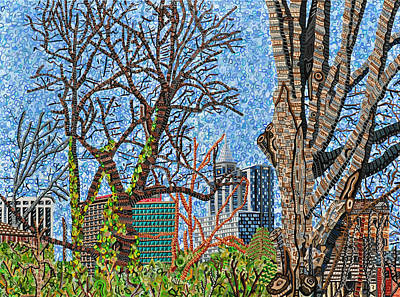 Downtown Raleigh - View From Chavis Park Art Print by Micah Mullen