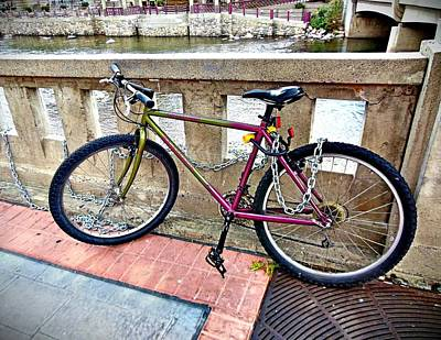 Photograph - Downtown Reno Bike by Joan Reese
