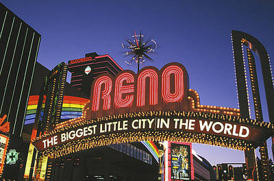Whats Your Sign - Downtown Reno Two by Buddy Mays