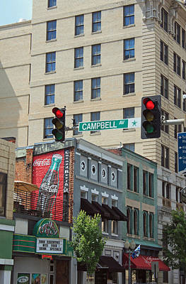 Coca-cola Sign Photograph - Downtown Roanoke Scene by Suzanne Gaff